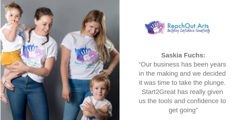 """""""Our business has been years in the making and we decided it was time to take the plunge. Start2Great has really given us the tools and confidence to get going"""""""