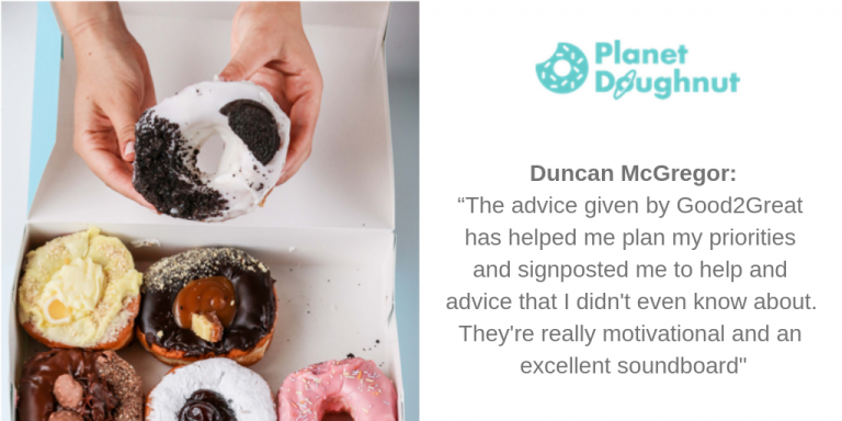 """The advice given by Good2Great has helped me plan my priorities and signposted me to help and advice that I didn't even know about. They're really motivational and an excellent soundboard"""