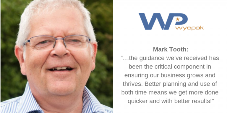 """Mark Tooth: """"…the guidance we've received has been the critical component in ensuring our business grows and thrives. Better planning and use of both time means we get more done quicker and with better results!"""""""