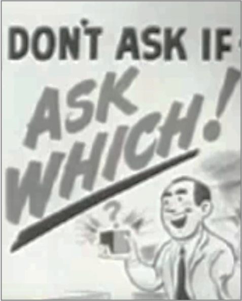 Elmer Wheeler - dont ask if ask which