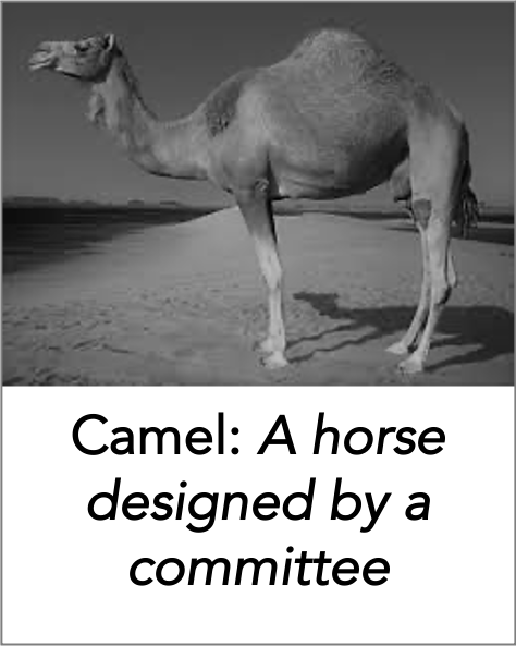 Camel: A horse designed by a committee